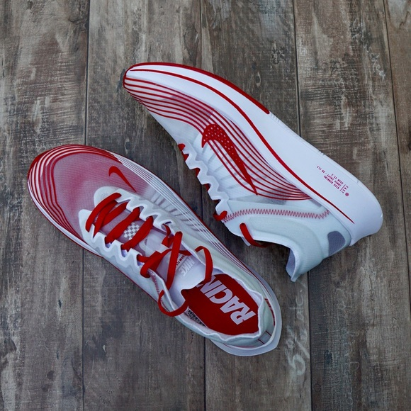 "fed12c3e2b55 Nike Zoom Fly SP ""Tokyo"" White Red Running Shoes"